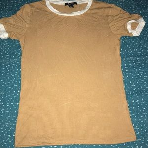 Forever 21 small tan and white t-shirt